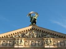 Estado teatro acadêmico de Opera de Lviv do estilo do neo-renascimento de Iennese e de bailado Imagem de Stock