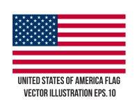 Estado unido de la bandera de América Fotos de archivo