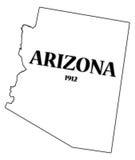 Estado y fecha de Arizona libre illustration
