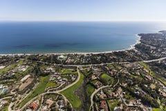 Estados California meridional aérea de Malibu Imagenes de archivo