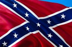 Estados confederados de bandeira de América Bandeira nacional histórica dos estados de América confederados Sabido como a batalha ilustração royalty free