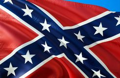Estados confederados de bandeira de América Bandeira nacional histórica dos estados de América confederados Sabido como a batalha ilustração stock