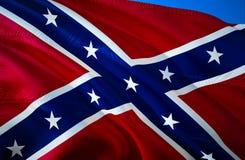 Estados confederados de bandeira de América Bandeira nacional histórica dos estados de América confederados Sabido como a batalha ilustração do vetor