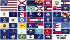Estados de bandeiras de América Fotos de Stock Royalty Free