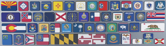 Estados de los E.E.U.U. Fotos de archivo