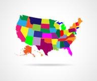 Estados de los E.E.U.U. - ejemplo Fotos de archivo libres de regalías