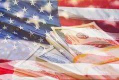 Estados de Unated de bandeira de América como o fundo fotografia de stock