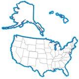 Estados dos EUA 50 ilustração do vetor