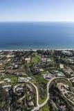 Estados pacíficos de la vista al mar en malibu California Imágenes de archivo libres de regalías
