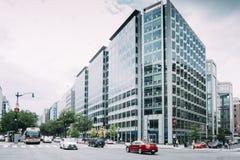 Estados Unidos: Arquitetura no dowtow da C.C. de Wahington imagens de stock royalty free