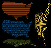 Estados Unidos asocian el conjunto Foto de archivo