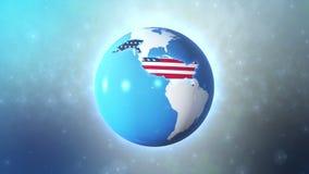 Estados Unidos com alta tecnologia do título ilustração royalty free