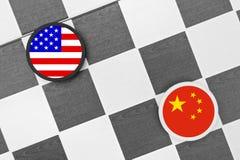 Estados Unidos contra China Foto de Stock