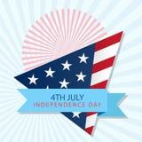 Estados Unidos da América feliz do Dia da Independência 4o julho Fotos de Stock
