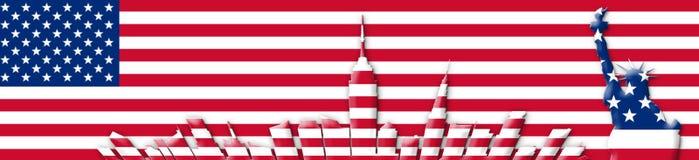 Estados Unidos da América 4o julho, conceito do Dia da Independência Fotografia de Stock