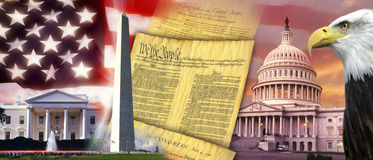 Estados Unidos da América - símbolos patrióticos Imagens de Stock Royalty Free