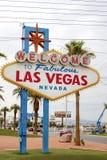 Estados Unidos de Las Vegas, o 9 de julho de 2014: Vegas fabuloso - boa vinda Foto de Stock Royalty Free