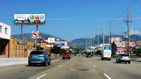 Estados Unidos do tráfego da estrada dos carros Fotografia de Stock