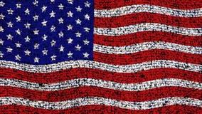 Estados Unidos embandeiram video estoque