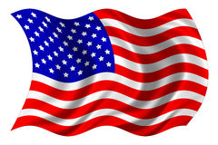 Estados Unidos embandeiram isolado ilustração stock