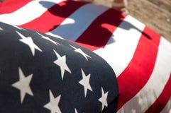 Estados Unidos embandeiram Símbolo americano Fundo do grunge da independência Day Imagens de Stock