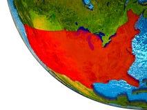 Estados Unidos en la tierra 3D libre illustration