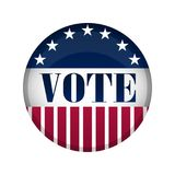 Estados Unidos hacen campaña botón stock de ilustración