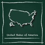 Estados Unidos resumen la mano del mapa del vector dibujada con libre illustration