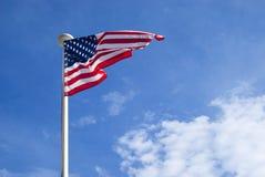 Estados Unidos señalan agitar por medio de una bandera Fotos de archivo