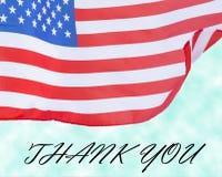 Estados Unidos señalan concepto del día por medio de una bandera de veteranos Imágenes de archivo libres de regalías