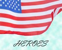 Estados Unidos señalan concepto del día por medio de una bandera de veteranos Imagenes de archivo