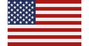 Estados Unidos señalan por medio de una bandera stock de ilustración