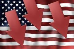 Estados Unidos señalan por medio de una bandera imagen de archivo