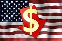 Estados Unidos señalan por medio de una bandera imagenes de archivo
