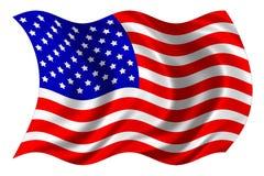 Estados Unidos señalan por medio de una bandera aislado Imagen de archivo