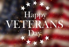 Estados Unidos señalan por medio de una bandera Concepto del día de veteranos Fotografía de archivo libre de regalías