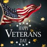 Estados Unidos señalan por medio de una bandera Concepto del día de veteranos ilustración del vector