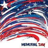 Estados Unidos señalan por medio de una bandera diseñado con los movimientos del cepillo para Memorial Day ilustración del vector