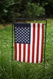 Estados Unidos señalan por medio de una bandera en Smithfield céntrico Fotografía de archivo libre de regalías