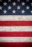 Estados Unidos señalan por medio de una bandera pintado en los tablones de madera que forman un fondo Foto de archivo libre de regalías