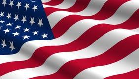 Estados Unidos señalan el fondo por medio de una bandera Fotografía de archivo