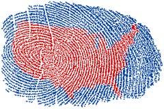 Estados Unidos tomam as impressões digitais ilustração stock