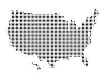 Estados Unidos traçam Imagem de Stock Royalty Free