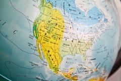 Estados Unidos trazan en un globo Imágenes de archivo libres de regalías