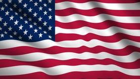Estados Unidos: Video de la bandera de Estados Unidos ondeando en el viento. Grabación HD de 1080p con marca cerrada metrajes