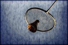 Estafa de bádminton artística Foto de archivo