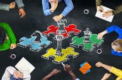 Estafa de las táctica de la reconstrucción del entretenimiento del ocio de la estrategia del juego de ajedrez Fotos de archivo