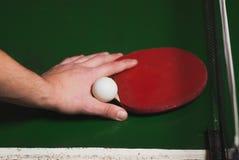 Estafa del ping-pong o de tenis de mesa con la bola, Fotografía de archivo