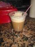 Estafa Leche del café Foto de archivo libre de regalías