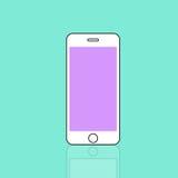 Estafa moderna del dispositivo de comunicación del teléfono móvil móvil de Smartphone ilustración del vector
